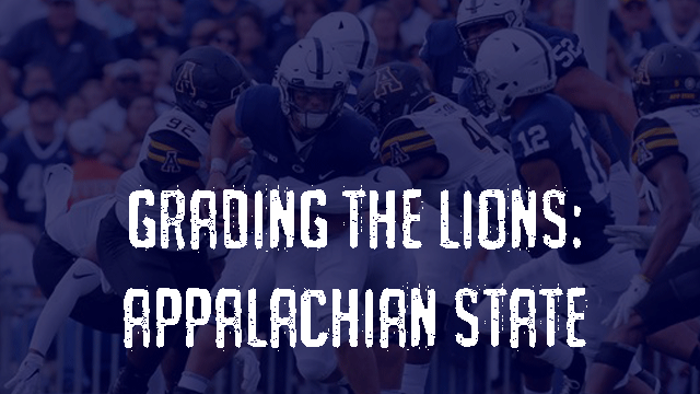 Grading the Lions – Appalachian State