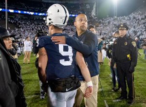 Penn State QB Trace McSorley and Head Coach James Franklin