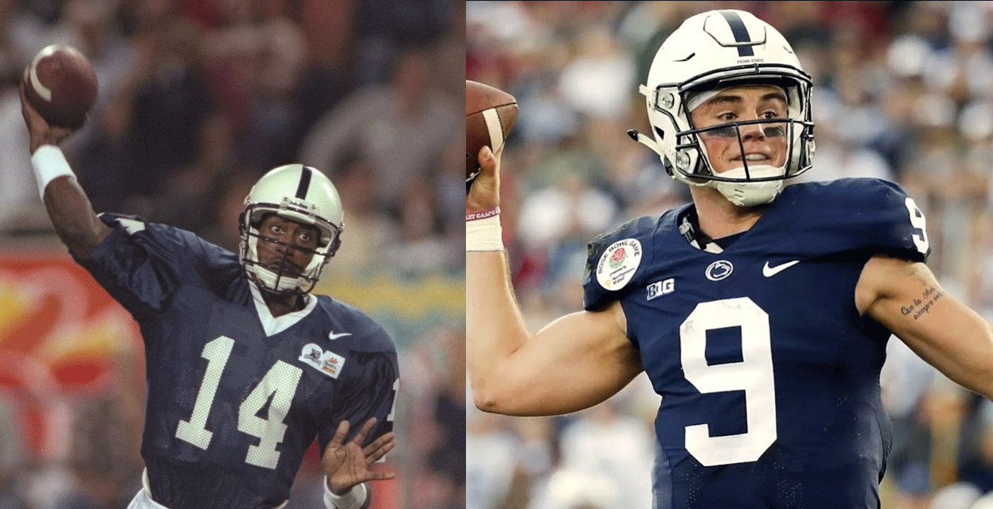 Penn State QBs Wally Richardson (left) nd Trace McSorley (right)
