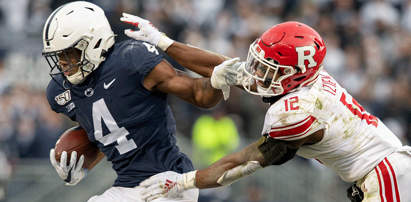 Penn State RB Journey Brown Carries the Ball Against the Rutgers Scarlet Knights at Beaver Stadium